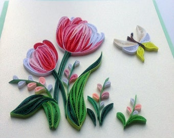 Tulip and Butterfly Card/F015, F016, F017