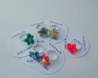 Handmade Colorful Daisy Ring