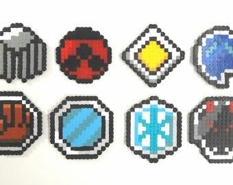 Pokemon Johto League Badges - Pokemon badges beads