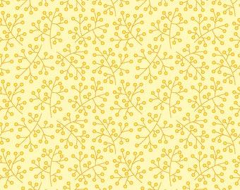 Bloom Flower Stigmas on Yellow Fat Quarter Cotton Fabric (UK)