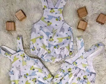 Beautiful Handmade Baby Toddler BOY or GIRL Romper, Playsuit
