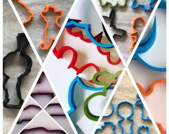 Cookie Cutters - Choose any 6 - Outline Only