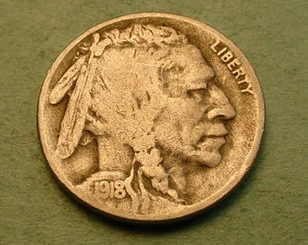 1918-S Buffalo Nickel Fine <>The Coin you see is the Coin you get <> # ET5961