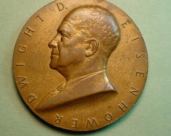 U.S. Mint Medal Dwight Eisenhower Inaugural 11/20/1957  76 MM Near Mint Condition<># ETB6065