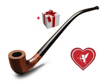 Gandalf pipe Smoking pipe KAF233 Tobacco pipe Lord of the Rings Churchwarden pipe LOTR The Hobbit pipe Wizard Long stem pipe/Valentines gift