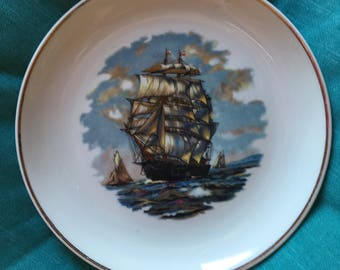 Vintage Ship Plate