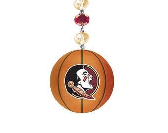 FLORIDA STATE University *Basketball* MAGNETIC Ornament, Fsu Home Decor,Seminoles Gifts,Noles,Fsu Ornament,Fsu gift,Florida state