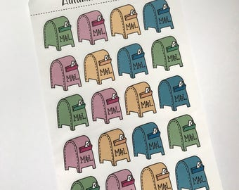 Mail Boxes Sticker Sheet