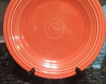 Dinner Plate in Fiesta Poppy by Homer Laughlin