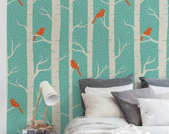 Birch tree wallpaper peel and stick wallpaper - Birch tree wallpaper peel and stick ...