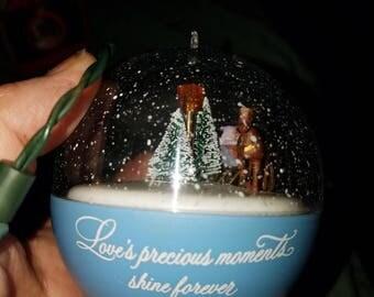 Vintage Hallmark lighted ornament Christmas sleigh ride