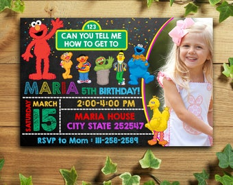 Sesame Street Birthday Invitation/Sesame Street Birthday/Sesame Street Invitation/Sesame Street Invitation Digital/Sesame Street