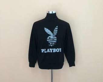 vintage 90's // playboy sweatshirt // playboy big logo // playboy spellout // nice design