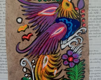 Paper Amate  Rooster (4x6)