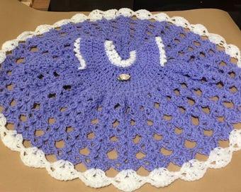 Newborn/1m crochet dress