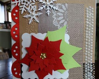 Poinsettia, Snowflake card