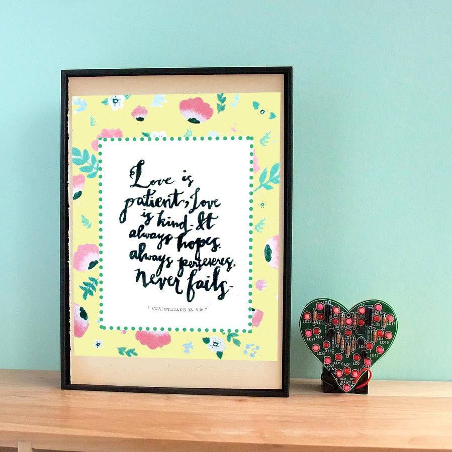 Quote Love Is Patient Love Is Patient Love Is Kind Bible Verse Instant Download