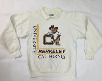 Vintage 70's 80's university Berkeley California CAL Golden Bears Big Logo Size Small 50/50 Poly/cotton sweatshirt