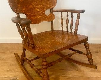 Gorgeous Antique Tiger Oak Rocking Chair