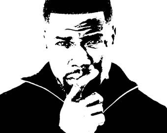 Kevin Hart  - Modern Painting artwork hand-painted ( three size available )