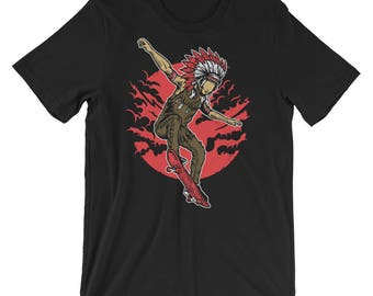 Indian Chief Skater Short-Sleeve Unisex T-Shirt