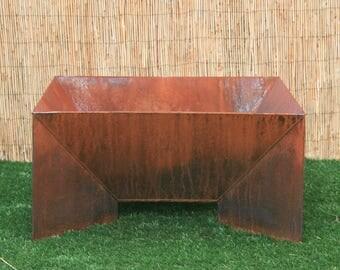 Modern Fire Pit. Steel. Yard firepit. Metal Fire Bowl. Metal Garden Sculpture. Metal Yard Art. Steel Garden Art. Rustic. Classic Fire pit