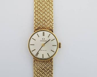 9ct Gold Ladies Omega Watch