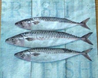 Sardines napkin