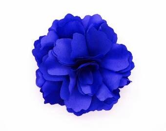 2 Navy Dark Blue Rose Flower Baby Girl Hair Clips Brooches 1 Pair