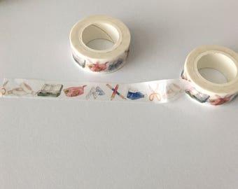 Planner Washi Tape, Stationery Washi Tape, Stationery Themed Washi, Unusual Washi Tape, Office Washi Tape, Planner Tape
