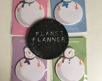 Snowman Post It Notes, Christmas Stationery, Snowman Sticky Notes, Christmas Sticky Notes, Snowman Paper, Christmas Paper.