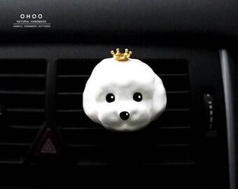 Maltese | car vent clip | car air freshener | plaster air freshener | car interior | car accessory | car fragrance | car scent