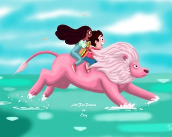 Steven Universe - Lion On Water Digital Download