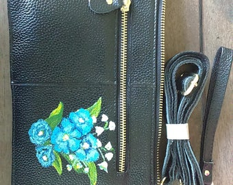 clutch handbag, flower design