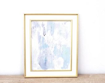 Light Blue Abstract Print, Abstract Wall Art, Minimalist Art, Watercolor Print, Light Blue Art, Coastal, Calming Wall Art, Instant Download