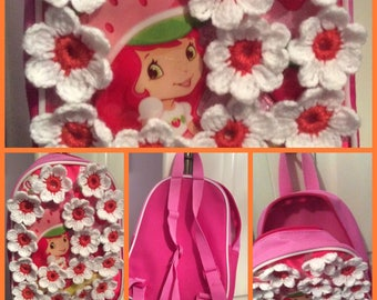 Soldes30%!  Code: SOLDESCNS backpack for little Princess Decor flowers acrylic hand made crochet
