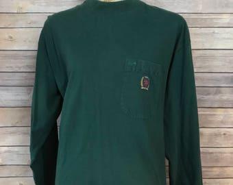 Vintage Tommy Hilfiger Crest Pocket Long Sleeve T-Shirt (M)