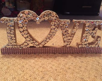 Sequined Love Sign