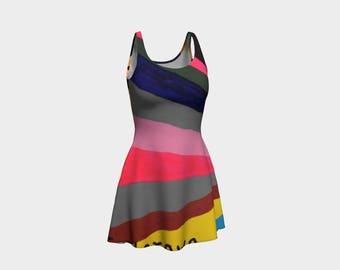 Stripes Flare Dress