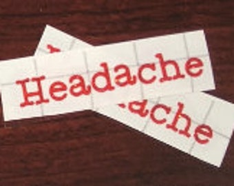 Headache LABEL ONLY