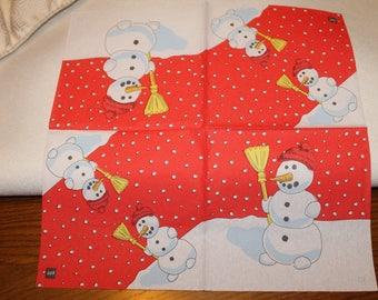 Snowman towel