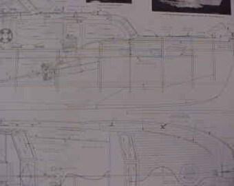 Chris Craft 50' Catalina Flying Bridge Cabin Cruiser 32 Inch Model Plans