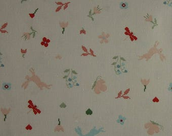 Meadow with Hares Wide Fabric Fat Quarter