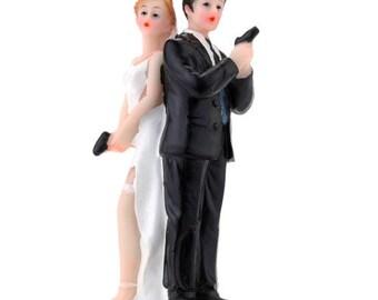 Resin Bride & Groom Wedding Cake Topper