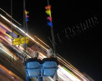 "Digital Photography of an Amusment Park Ride, ""The Distributor"", by Worldly Art Designs & Alex Kingsley"