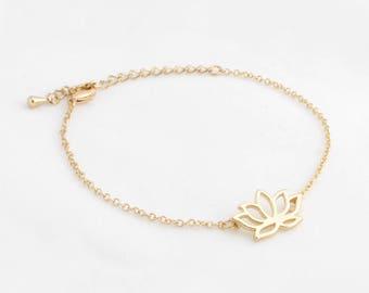 """Lotus Flower Bracelet """"Lotus"""" gold"""