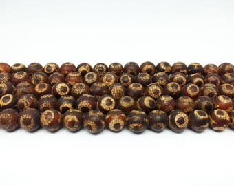 Agate Beads Brown Agate Beads Brown Beads Yoga Beads Prayer Beads for Jewelry Beads Bracelet Beads 10 mm Beads Gemstone Beads  DIY Jewelry