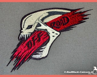 Embroidered file off-road-skull in 9 sizes, embroidery motif, embroidery design, embroidery design, embroidery designs, skull, skull, skull