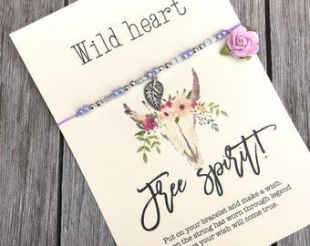 String bracelet gift, Gift for boho girl, Seed bead bracelet, Beaded bracelet, Boho bracelet, Boho jewelry, Friendship bracelet, A84