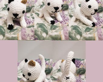 Cute Amigurumi Crochet Kitten! Choose your Color